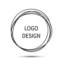 Logo design hand drawn circle vector