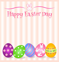 lovely easter day background and card and object vector image