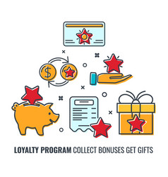 loyalty program banner vector image