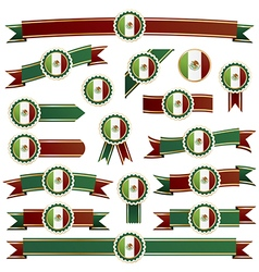 mexican ribbons vector image