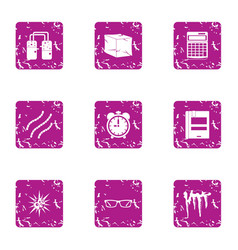 Muddy water icons set grunge style vector