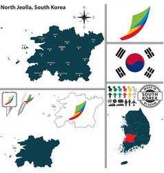 North jeolla province south korea vector