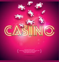 On a casino theme with shiny vector
