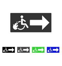 Patient exit flat icon vector