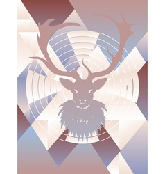 Polygonal Background with Deer3 vector image