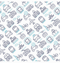 public transport seamless pattern vector image