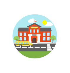 school icon sign symbol vector image
