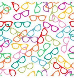 Seamless pattern with hand drawn glasses vector