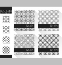 Set abstract seamless pattern 2 vector