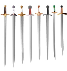 set of swords vector image