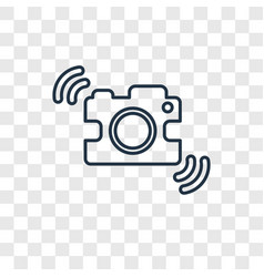 shake camera concept linear icon isolated on vector image