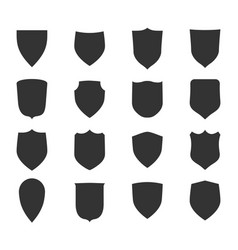 shield shape icons set symbol protection vector image