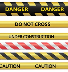 Signal warning tape vector image