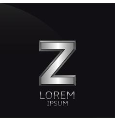 Silver Z Letter emblem vector