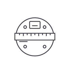 smart scales line icon concept smart scales vector image