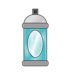 spray paint bottle vector image