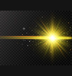 star burst with beams and sparkles on transparent vector image