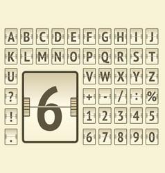 Stempunk flip mechanical board bold alphabet for vector