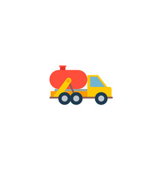 tank truck icon flat element vector image