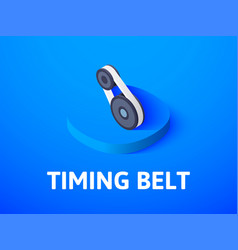 Timing belt isometric icon isolated on color vector