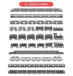 Train black set vector image