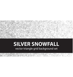 Triangle pattern set silver snowfall seamless vector