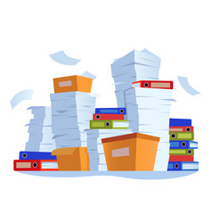 Unorganized paperwork paper documents stack vector