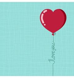 Valentines day balloon vector