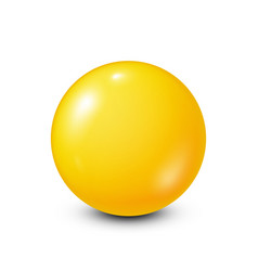 Yellow lottery billiardpool ball snooker white vector