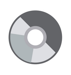 compact disk data archive digital audio vector image