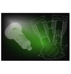 motorcycle engine and cogwheels vector image