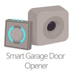 smart garage door opener icon cartoon style vector image