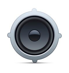 speaker isolated on white background vector image
