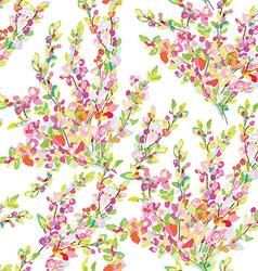 Spring or summer seamless floral background vector image