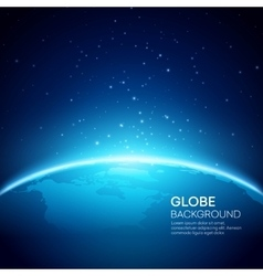 Blue globe earth background vector image