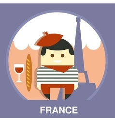 France Resident on Traditional Background vector image
