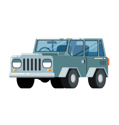 offroad suv car icon vector image vector image