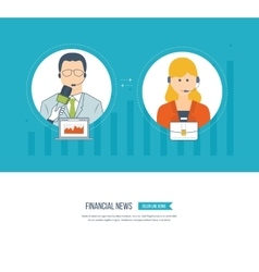 Technical support assistant Social network vector image vector image