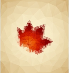 Abstract Maple vector image