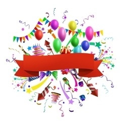 Celebration composition vector image