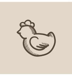Chick sketch icon vector image vector image