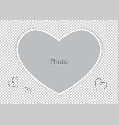photo frame for loved spouse or child vector image