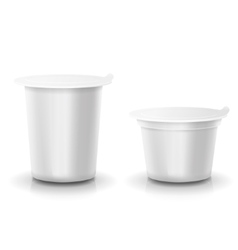 Realistic plastic container of yogurt or vector image vector image