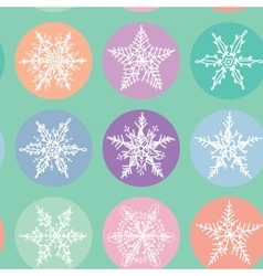 Seamless pattern Merry Christmas Card Snowflake vector image