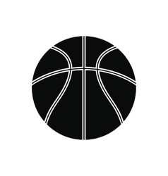 Basketball ball black simple icon vector image