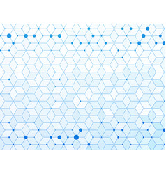 blue medical molecules connection background vector image