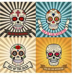 dia de los muertos vector image