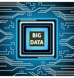 Microchip big data background vector image vector image