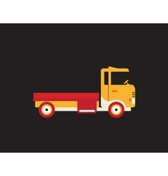 Red retro vintage delivery truck icon isolated on vector image