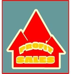 Sales grow up sticker vector image vector image